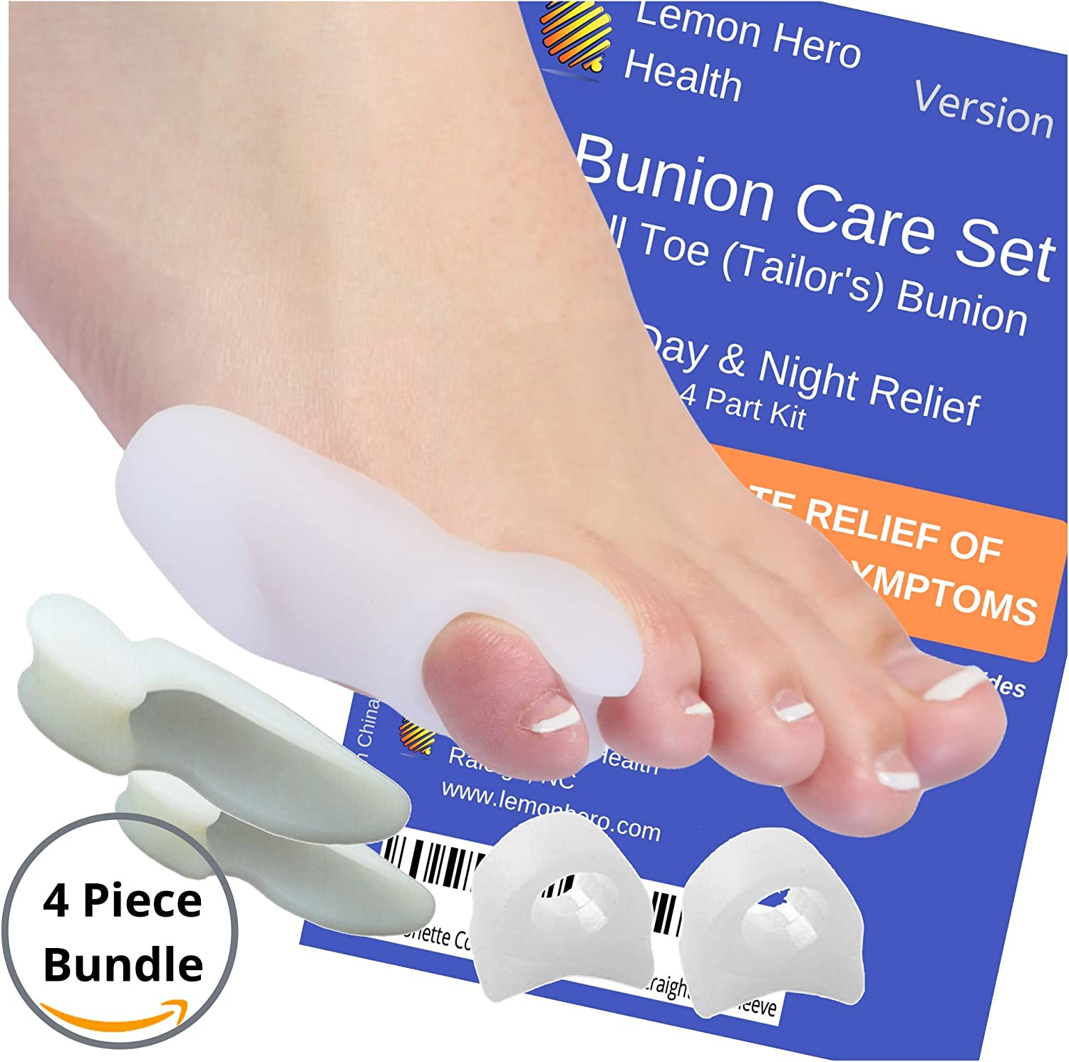Bunionette Corrector Splint Pack of 2 Small Pinkie Toe Tailors ...