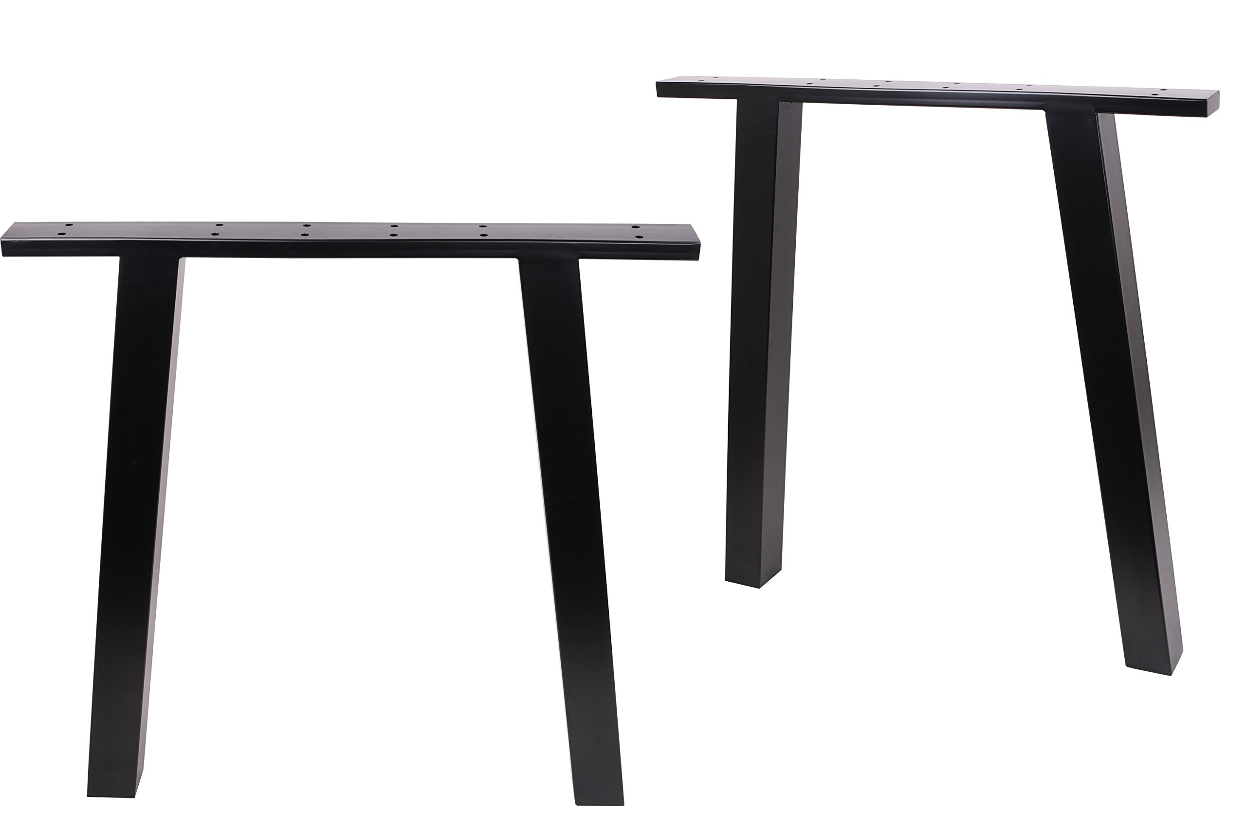 ECLV N-710-K Dining Table Legs, Vintage Steel Table Legs, Office Table Legs, Computer Desk Legs, Industrial Kitchen Table Legs, 28'' L, Black, Set of 2