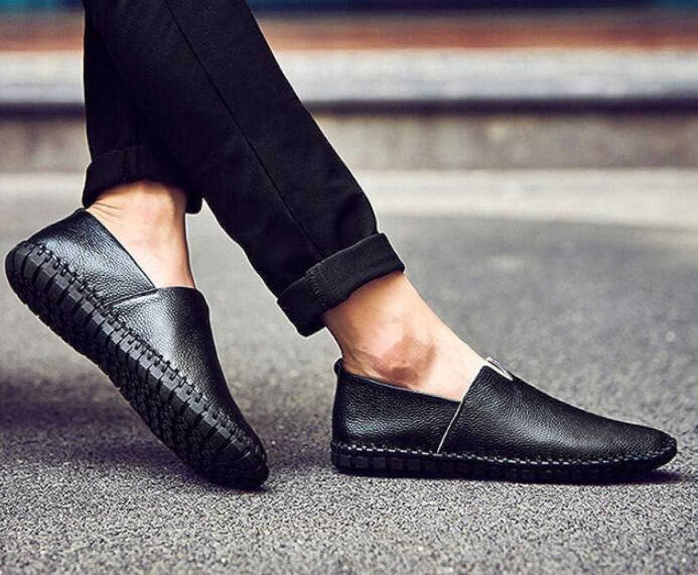 Männer Lässig Erbsen Schuhe Schuhe Atmungsaktiv Koreanisch Faule Schuhe Erbsen Fahr Schuhe schwarz1 f9e216