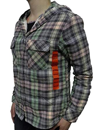 fa9525ff95b4 Image Unavailable. Image not available for. Color  Boston Traders Women s  Sherpa Lined Flannel Hoodie ...
