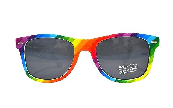 Amazon.com: Gafas de sol con diseño de arcoíris para adultos ...