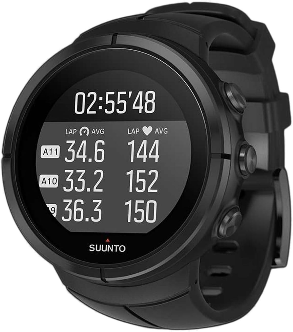Suunto - Spartan Ultra All Black Titanium HR - SS022654000 - Reloj Multideporte GPS + Cinturón de frecuencia cardiaca (Talla M) - Talla única