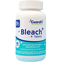 GuardH Bleach Tablets - 40 Count. Bleach for Laundry and Multipurpose Cleaning.