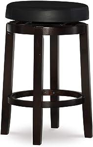 "Linon 98352KBLK-01-KD Maya, 24"", Black Counter Stool,"