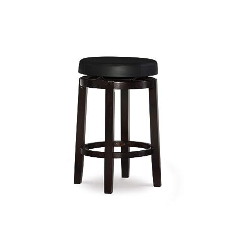 Miraculous Linon Maya 24 Black Counter Stool Evergreenethics Interior Chair Design Evergreenethicsorg