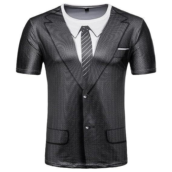 Camisetas, Ling+YAN Hombres De La Moda Slim Fit 3D Manga Corta Camiseta del MúSculo T-Shirt Casual Tops Blusa: Amazon.es: Ropa y accesorios
