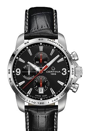 5b63cebd5 Certina C001.427.16.057.00 Men's Automatic Chronograph Watch Leather ...