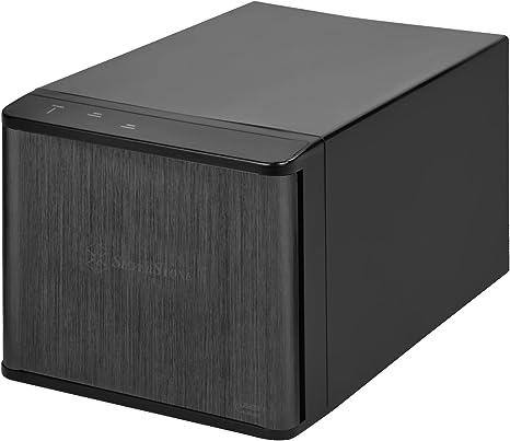 """SilverStone SST-TS231U-C - Carcasa para disco duro externo USB 3.1 Gen 2 con almacenamiento Raid de 2 bahías, para HDD SATA o SSD de 3,5"""", negro: Amazon.es: Informática"""