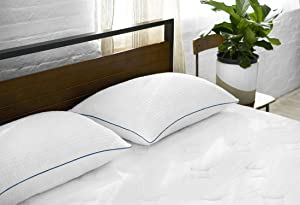 Sleep Innovations Premium Shredded Gel Memory Foam Pillows Set of 2, Made in the USA, 5 Year Warranty, King Pillow