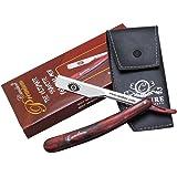 Professionell Gerader Schnitt Hals Rasier - Traditionell Rasiermesser ,Shavette Rasier-Set von Shaving Factory mit einem Rasiermesser + Free Fall