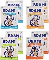 BRAMI Lupini Bean Snack, Multi-Pack | Plant Protein, Vegan, Gluten-Free, Low Calorie, Zero Net Carb, Keto, Lightly Pickled, Mediterranean Legume | Pack of 8, 5.3 oz (150g)