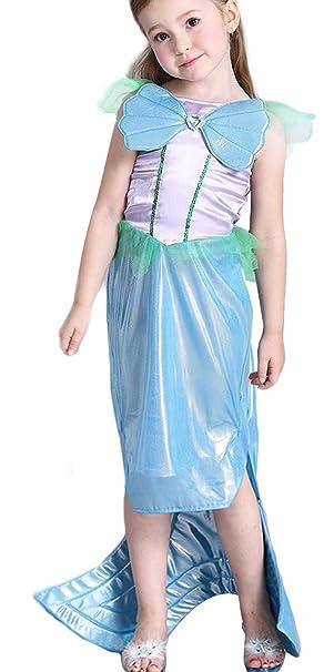 Eozy Kinder Madchen Meerjungfrau Kostum Prinzessin Kleid Karneval