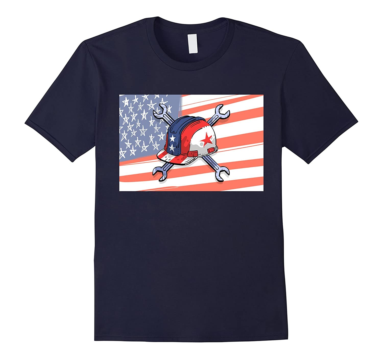 Labor Day With America Flag T-Shirt-BN