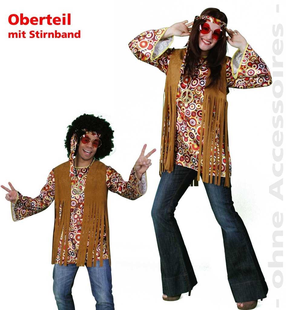 Déguisement costume hippie 10878 haut à franges marron produit neuf vendu dans son emballage original : taille : m