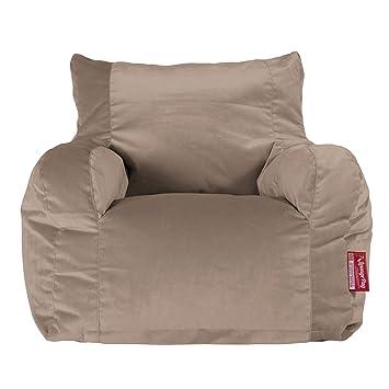 Lounge Pug   VELVET   Bean Bag Chairs   Adult Beanbag Armchair UK   MINK