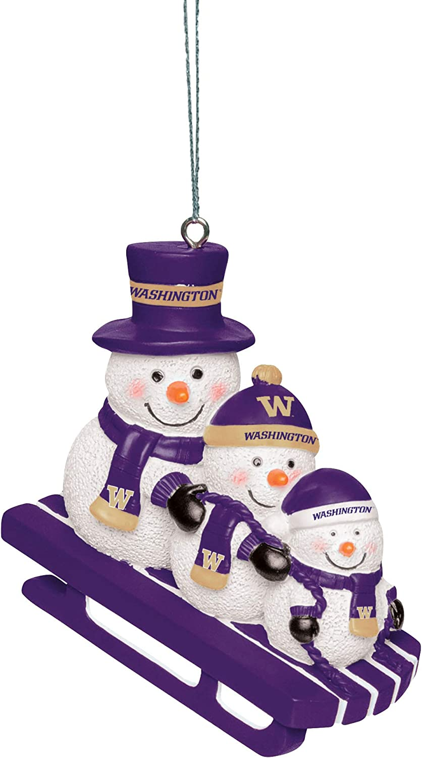 FOCO NCAA Unisex-Adult Sledding Snowman Holiday Christmas Tree