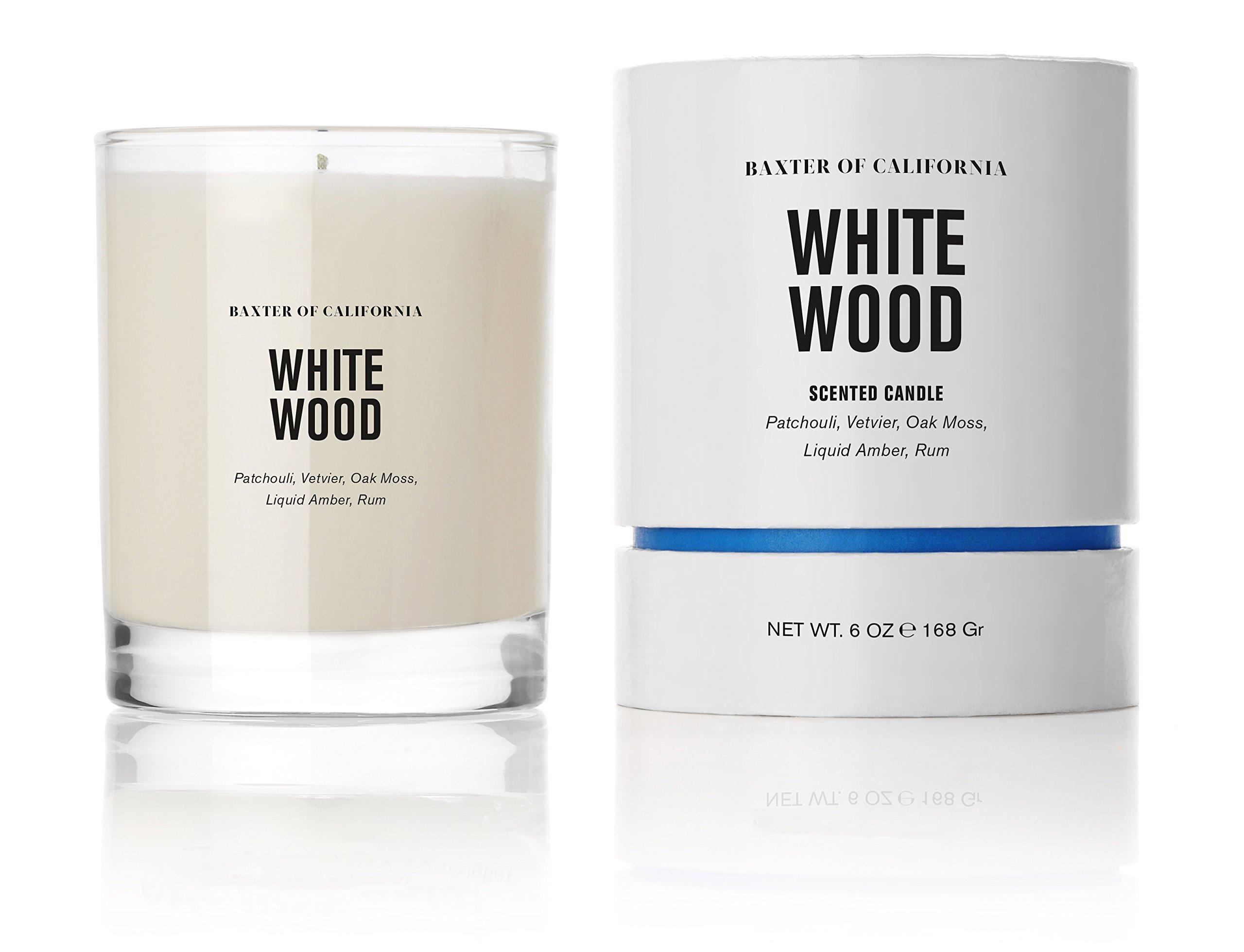 Baxter of California Candle, White Wood, 6 oz.