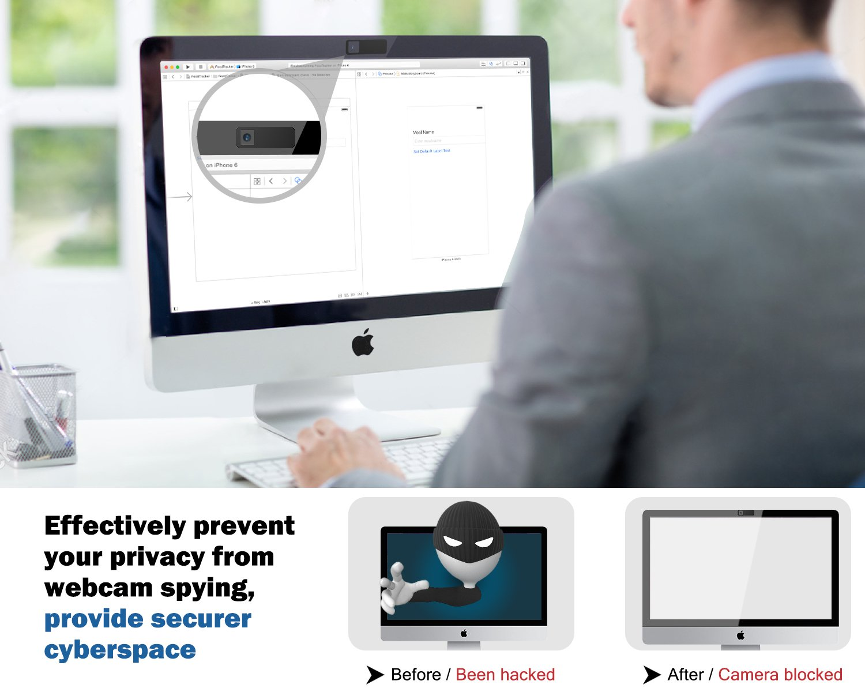 MoKo Cubierta de Cámara web ,3 pcs Cubierta de Cámara Deslizante Ultra Delgada con Adhesivo Fuerte, Protección de su Seguridad y Privacidad para Ordenador ...