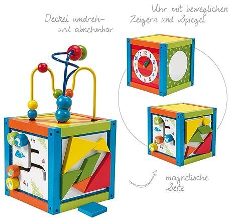 2 pieza Roba Madera Juguete Centro de juegos activo Dados con parte Reloj magnético y