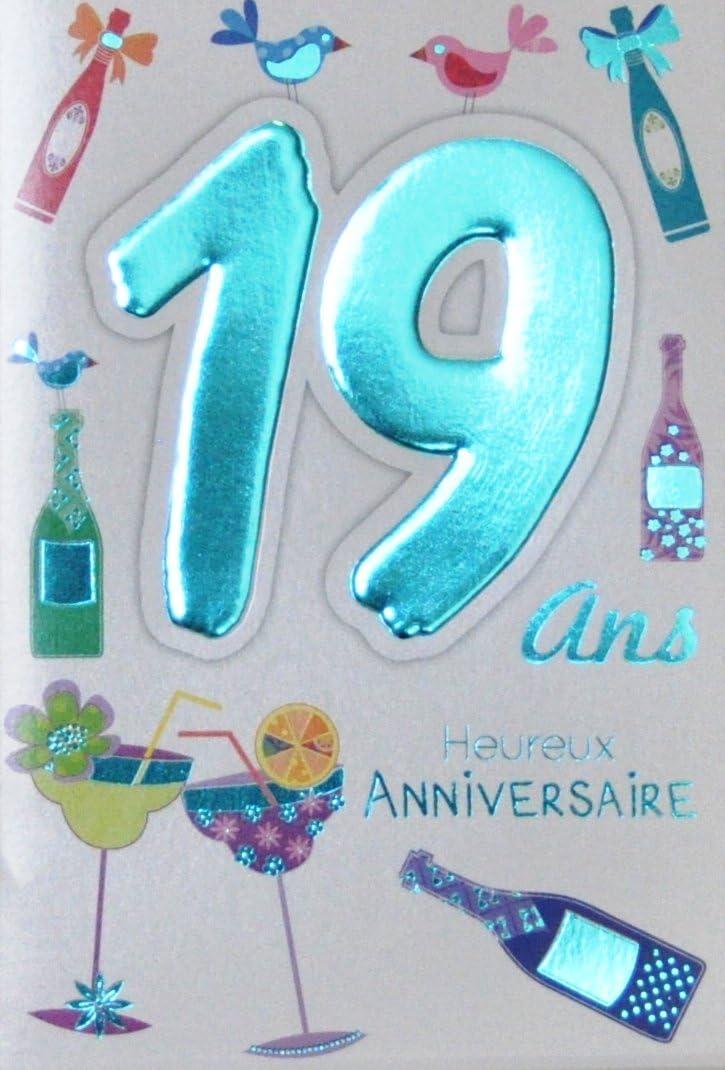 carte anniversaire 19 ans Age Mv 69 2020 Carte Anniversaire 19 ans Garçon Fille Jeune Homme