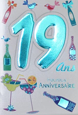 Age Mv 69 2020 Carte Anniversaire 19 Ans Garcon Fille Jeune Homme