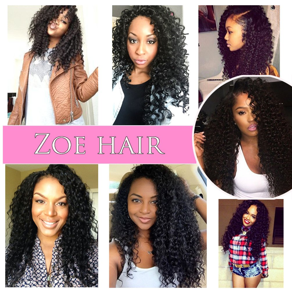 8adff8bf8a39 Amazon.com  10A Brazilian Curly Hair Frontal Ear To Ear Full Lace Frontal  Closure Kinky Curly Human Hair 13x4 Unprocessed Virgin Hair Part Closure   Beauty