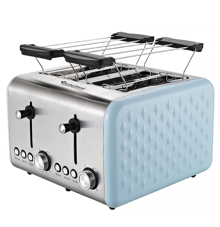 Amazon.de: 4 Scheiben Retro Toaster mit Brötchenaufsatz Vintage ...