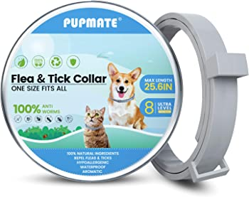 PupMate 8-Month Prevention Waterproof Collar for Dogs & Cats