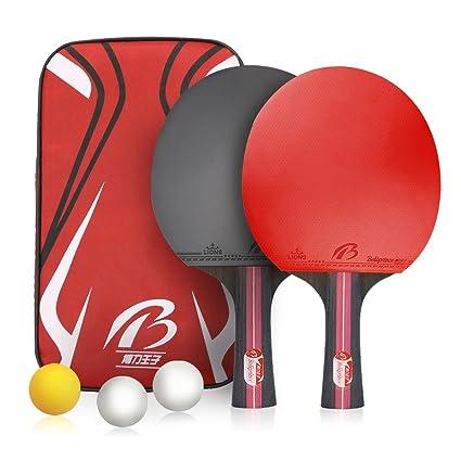 Weeygo Raquetas de Tenis de Mesa, Profesionales 2 Raquetas de Ping Pong Alta Velocidad Juego