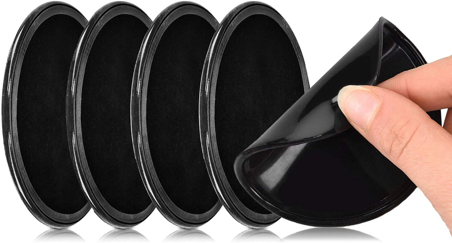 ACAMPTAR 4 x schwarze Magic Sticky Pad Anti-Rutsch-Matte f/ürs Auto Armaturenbrett f/ür Handy