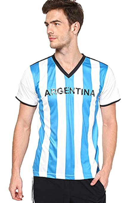 a08cc69c64c Buy Argentina Fan Jersey - White   Aqua Online at Low Prices in ...