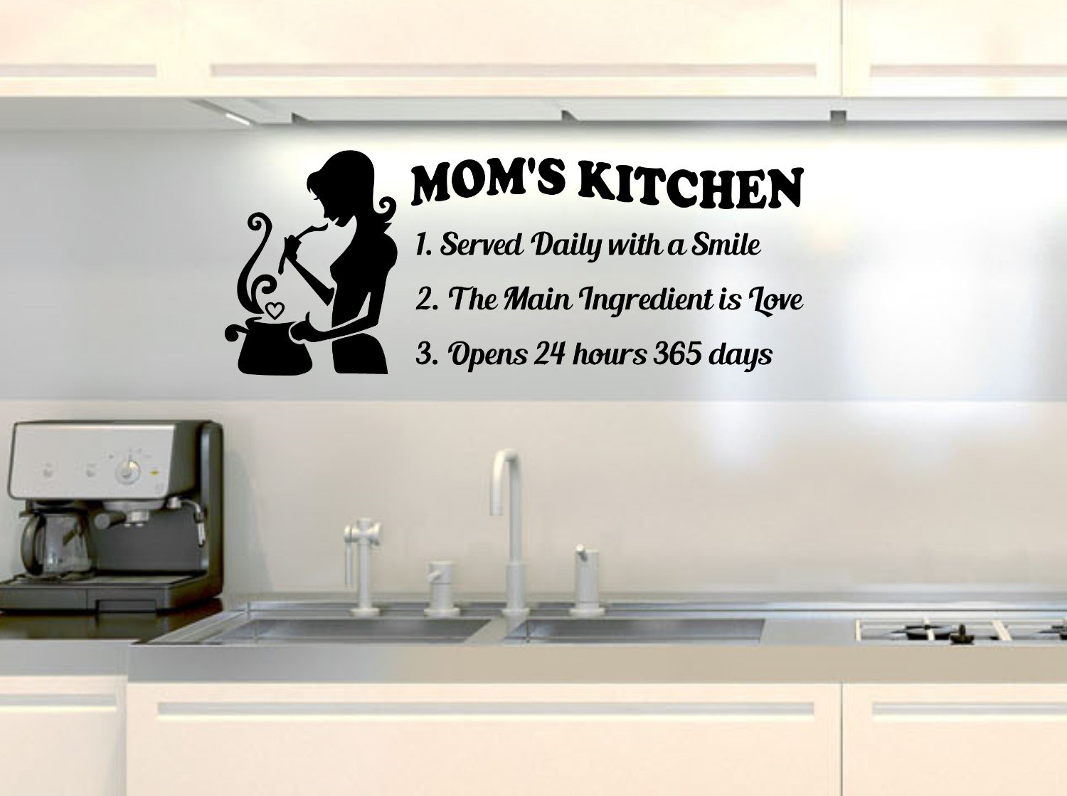 Amazon.com: Mother home kitchen quote wall decals are Burgundy Vinyl ...