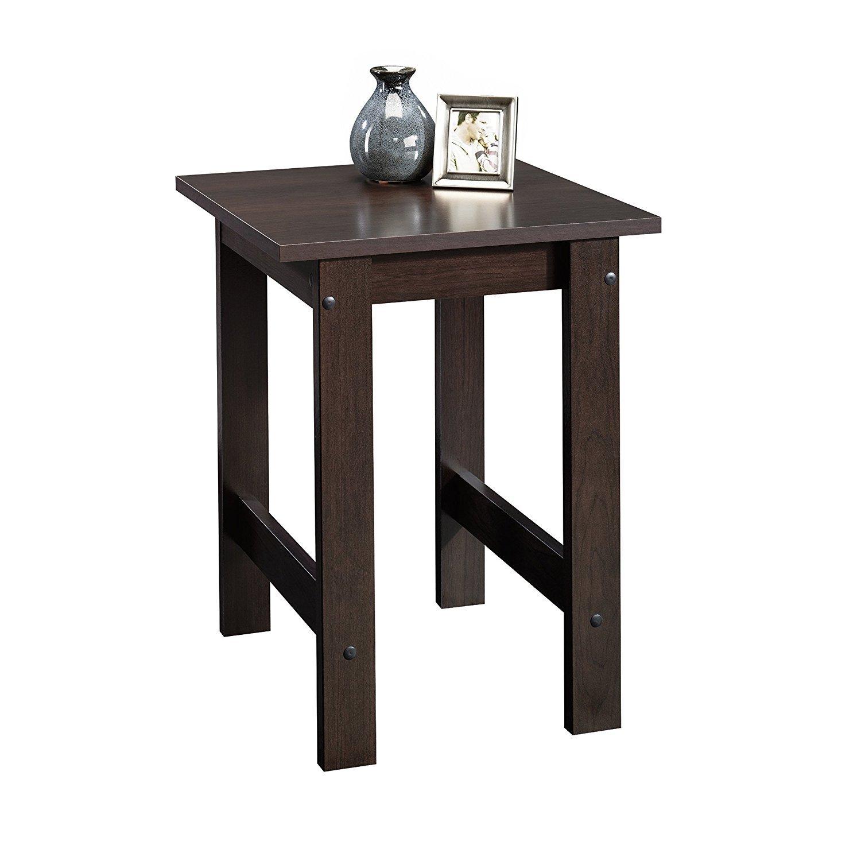 Amazon.com: Sauder Beginnings End Table, Cinnamon Cherry: Kitchen ...