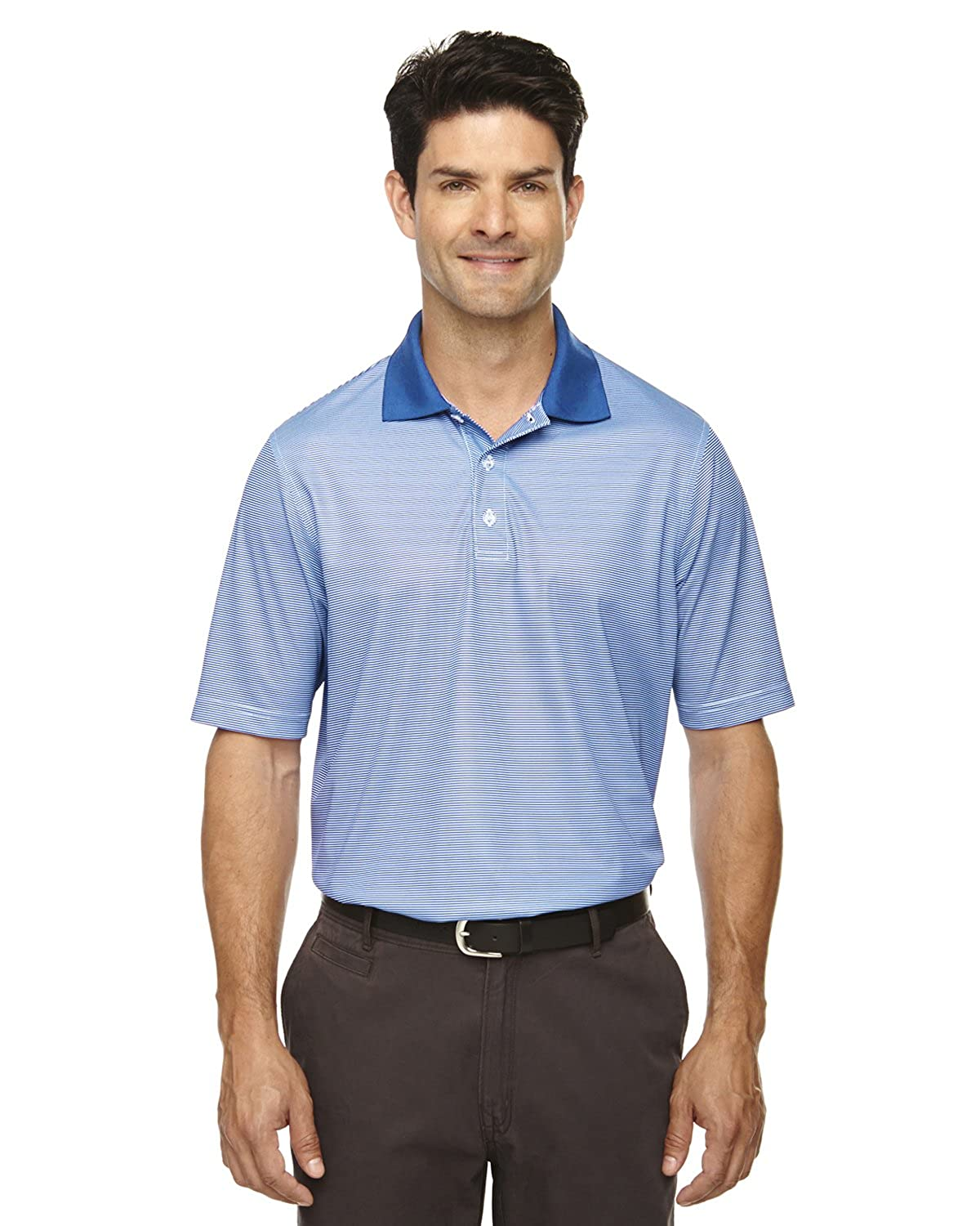 Large Extreme Eperformance Mens Snag Protection Striped Polo NAUTICL Blue 413