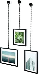 Umbra Fotochain 4x4 and 4x6 Picture Frame and Wall Decor Set for Photos, Black