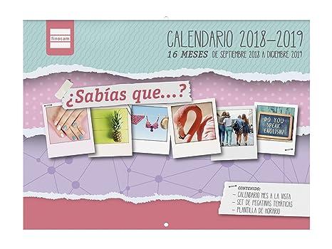 Calendario In Spagnolo.Finocam 16 Mesi Calendario Parete 16 Mesi 2018 2019
