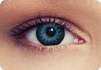 """Lentillas de color intensos para Cosplay ojo grande azul de tres meses sin dioprtías/corregir + gratis caso de lente """"High intensive Blue"""""""