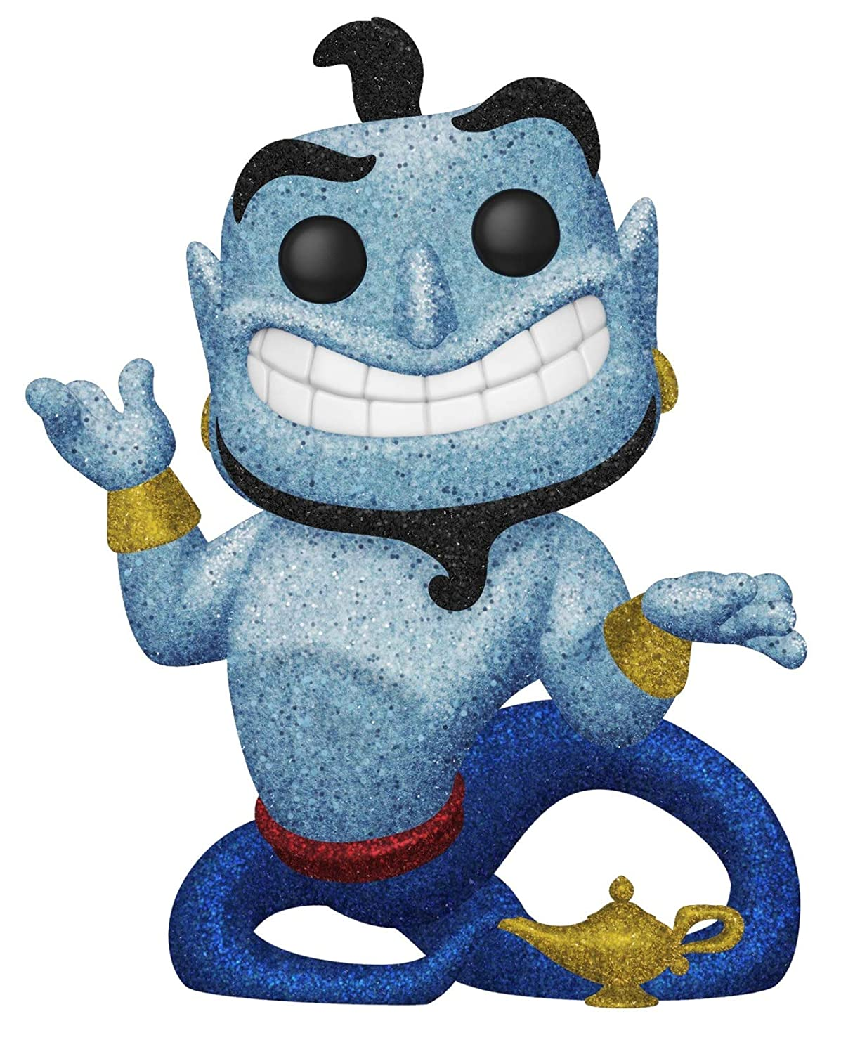 Pop Movies: Aladdin - Diamond Glitter Genie with Lamp Collectible Figure, Multicolor
