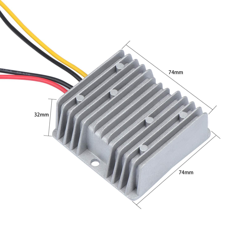 Convertidor para Auto Cami/ón Veh/ículo Barco Solar Sistema Regulador de Voltaje Power Buck WiMas DC 24V a DC 12V 20A 240W Buck Converter