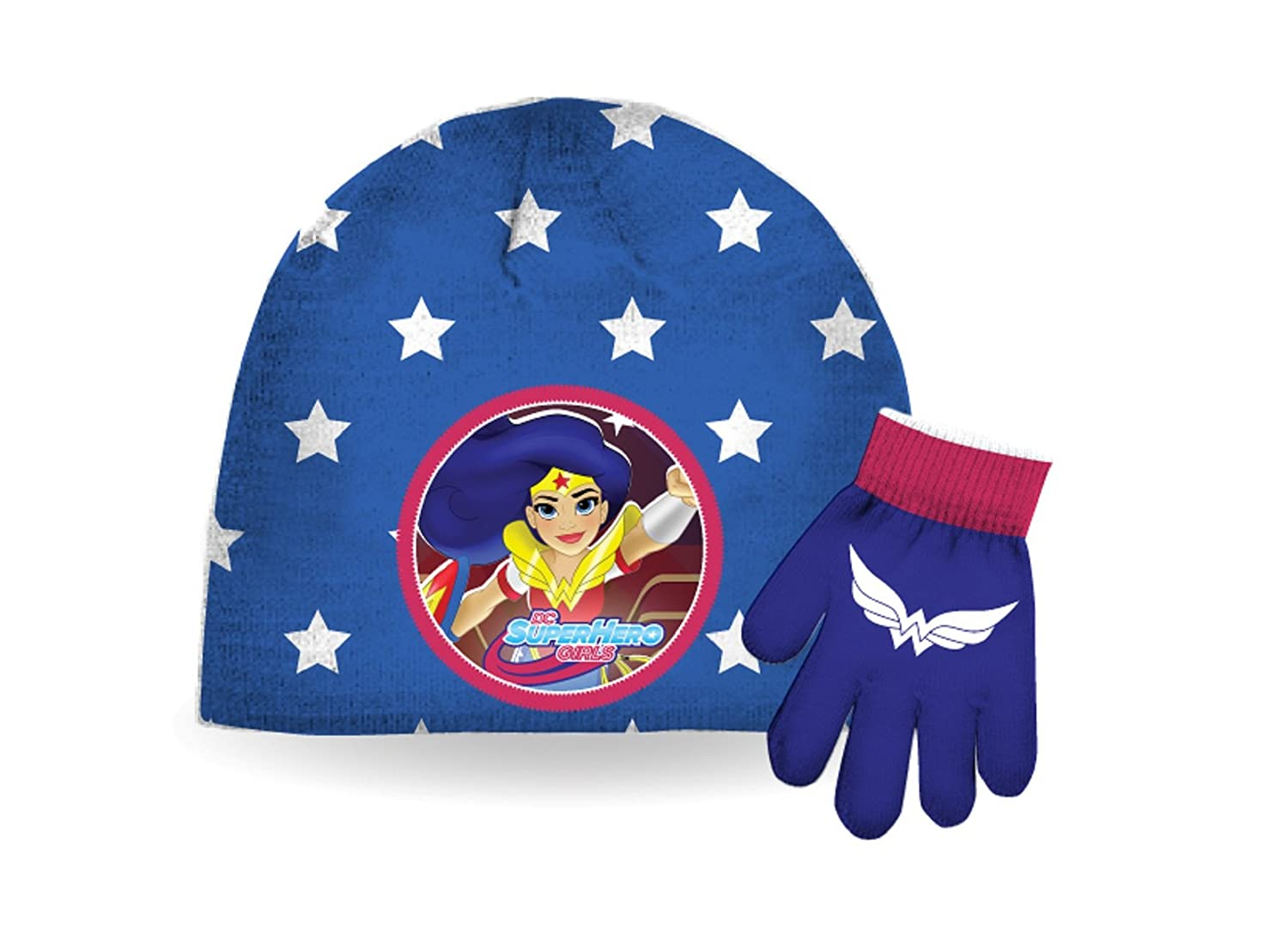 DC Comics Girl's Super Heroes Hat & Gloves Set (4-6X) SPORTICUS