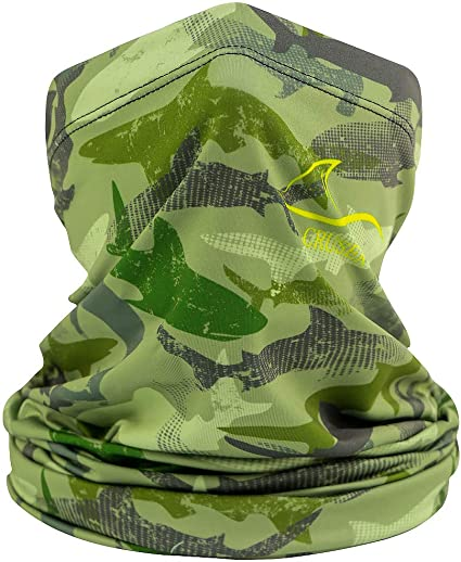 SUN GAITER Mask UPF 50 UV Protecter Camouflage Camo Fishing Face Neck Grey Red