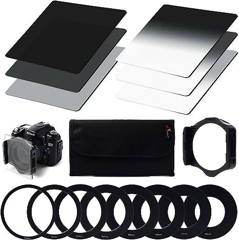 Kood Serie P Wide Angle portafiltro con anello adattatore 62MM adatta anche per Cokin P
