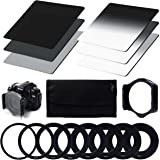 XCSOURCE Kit 10 adaptateurs + 6 filtres ND2 ND4 ND8 G.ND2 4 8 pour Cokin P Canon Nikon Sony LF6