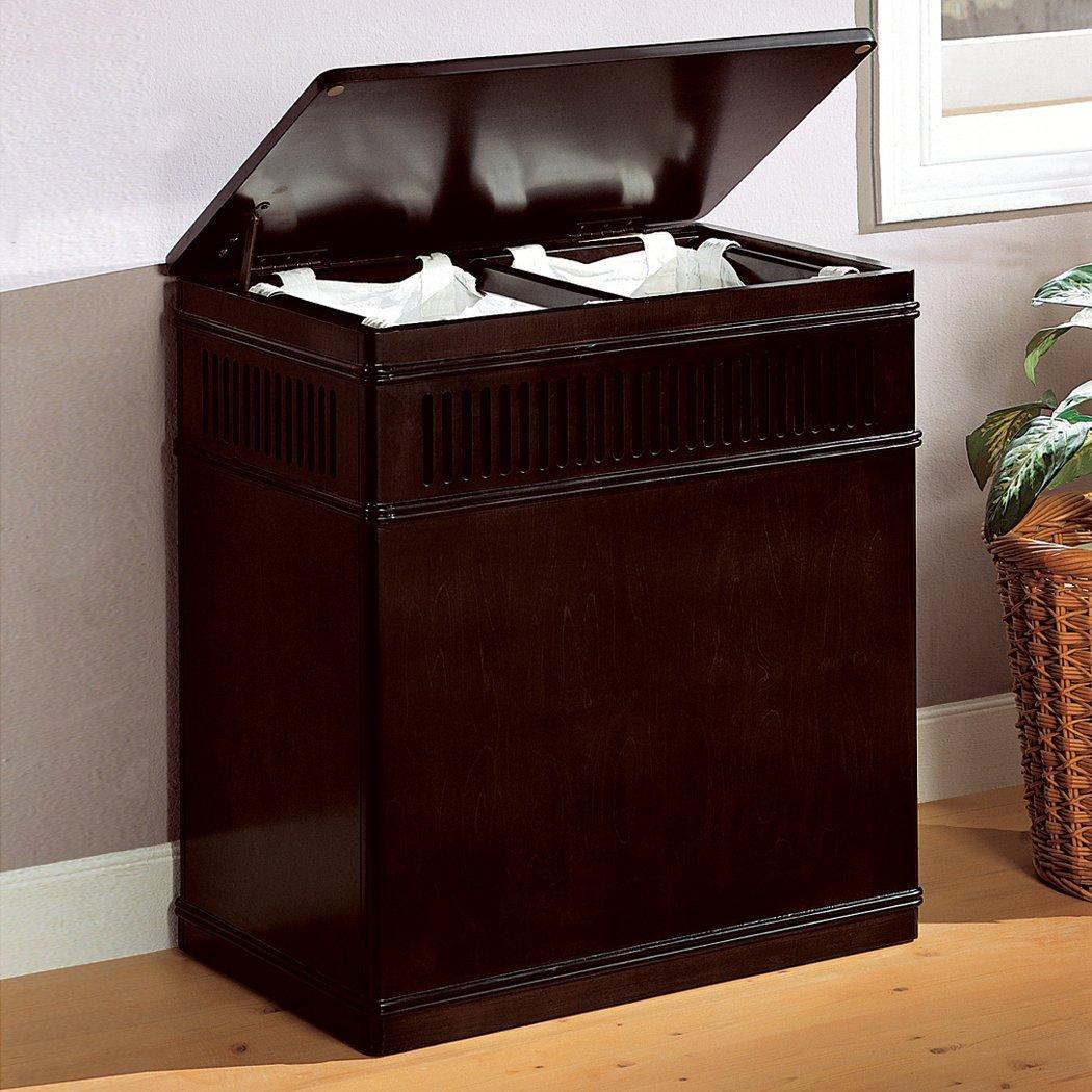 Coaster Home Furnishings Laundry Hamper, Cappuccino by Coaster Home Furnishings (Image #3)