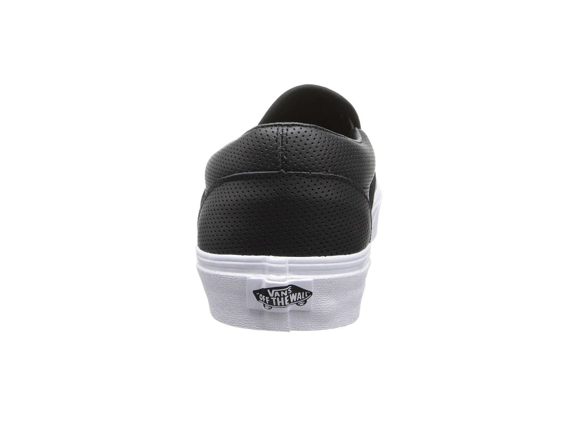 a8c9893c89 Vans Unisex Classic Slip-On  (Perf Leather) Black Mens 5.5
