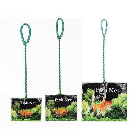 Acuario Net con mango largo Fish práctico rápido para red de red de pesca Malla de