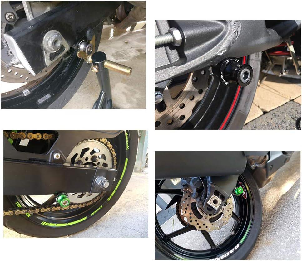 2pcs Motociclo Universale 8MM Nottolini Forcellone Appoggi per Kawasaki Z900 Z 900 tutti gli anni-Nero