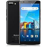 Smartphone pas cher, Blackview A20 Smartphone Débloqué(5.5 pouces 18: 9 écran - Trois Caméras 5MP+2MP+0.3MP, Android 8.0/Go système MTK6580 Quad core - 1 Go RAM 8 Go ROM, 3000mAh batterie, 3G Dual SIM WIFI GPS) - Noir