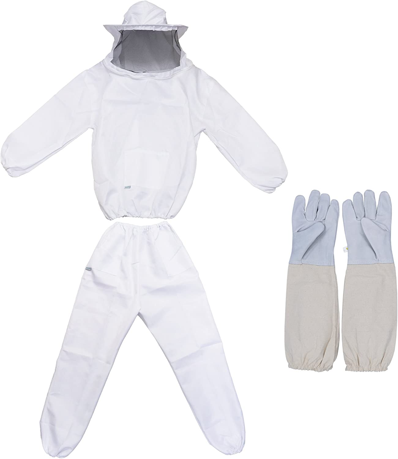 REAMTOP Professional Beekeeper Suit with Jacket, Pants, and Gloves