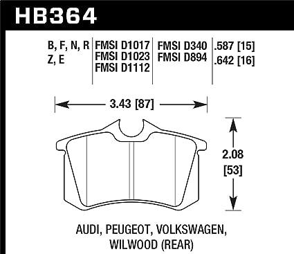 Amazon.com: Hawk 89-92 VW Golf GTi / GLS Turbo/ GLX (VR6) / 1.8 Turbo / VR6 / 00-06 Audi TT HPS Street Rear Bra (hb364f.642): Automotive